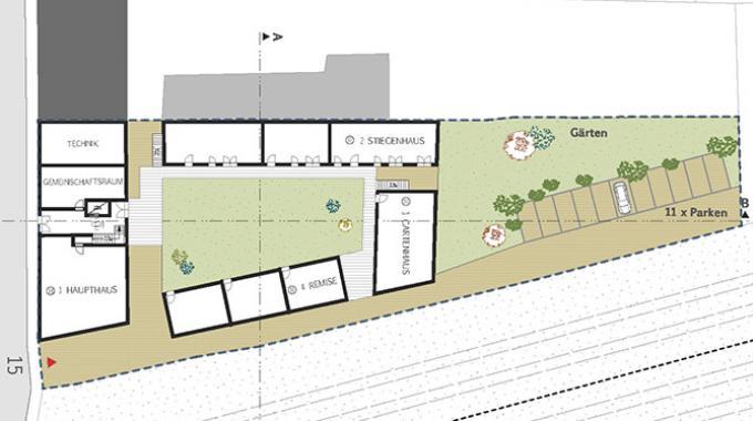 gemeinschaftlich wohnen vierseitenhof bernau mit gemeinschaftlichem garten cohousing berlin. Black Bedroom Furniture Sets. Home Design Ideas